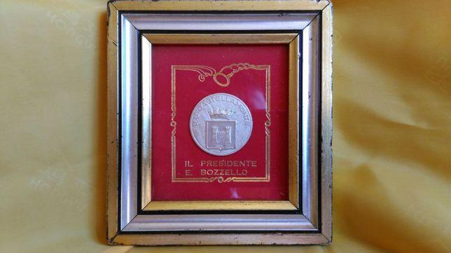 Vand miniatura tablou cu moneda din Ag.stantata 800