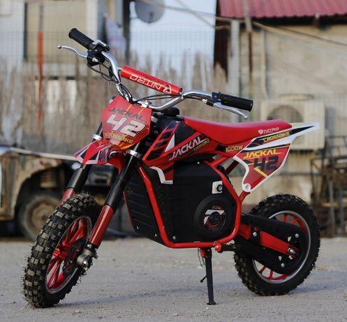 Motocicleta electrica pentru copii Eco Jackal 1000W Jackal #Rosu
