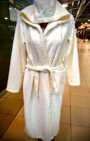 Ново ! Дамски халат за баня с качулка