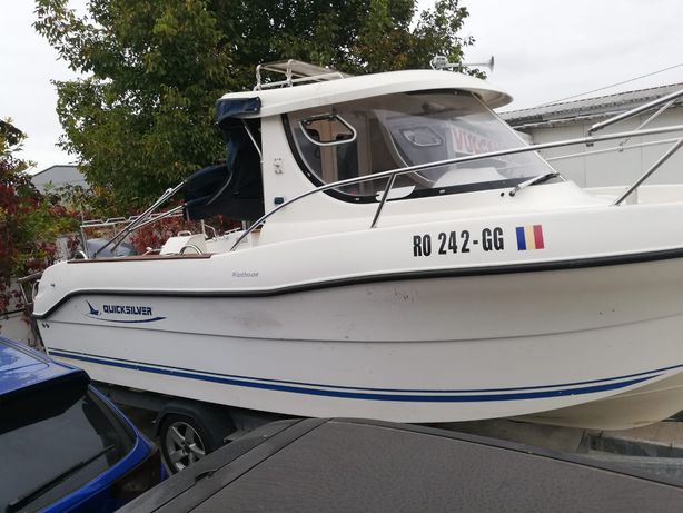 Pachet barca Quicksilver pilothouse 645, motor Yamaha + peridoc