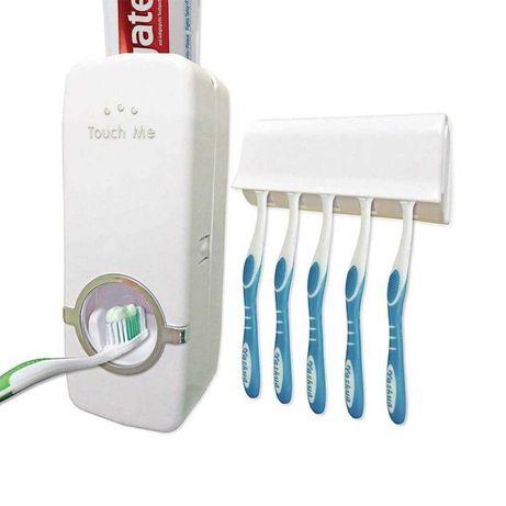 Дозатор за паста за зъби с поставка за четки