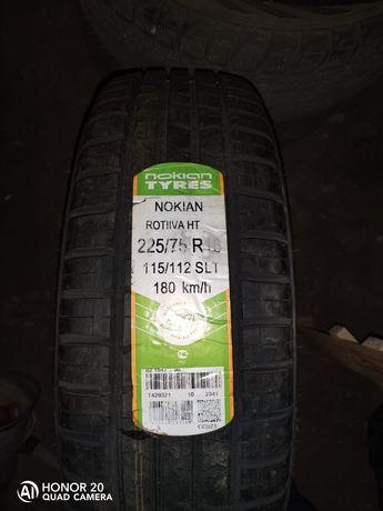 Продам летние шины Nokian Tyres 225/75/R16