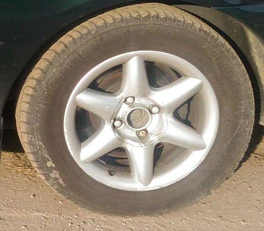 Алуминиеви джанти с гуми 15 цола за пежо 406