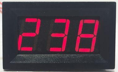 Voltmetru, Af., Dig., Cu LED-Uri, 3 Dig., 30…500V/C. Alternativ