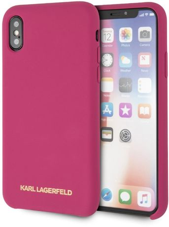Гръб Karl Lagerfeld Gold Logo за Apple iPhone X / Apple iPhone XS