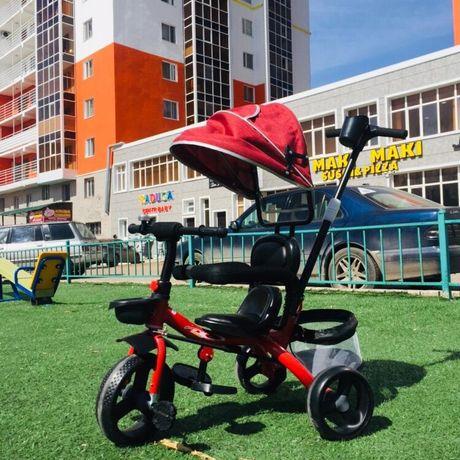 Велосипед-коляска с зонтиком и ручкой. Доставка бесплатно.