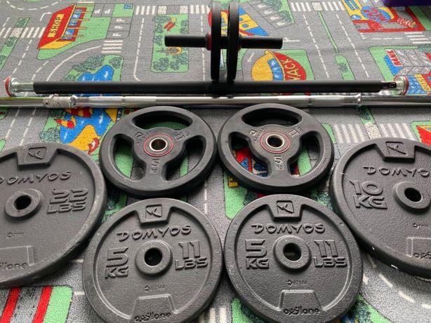 Set complet Fitness!Gantere,Saltea,Minge,Disc, Trambulină,Stepper..