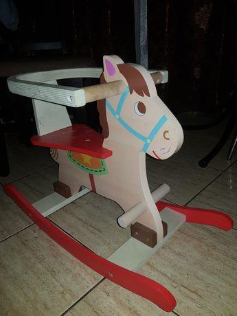 Calut balansoar de lemn pt copii