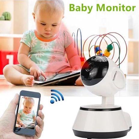 Въртящ Видео бебефон с аудио връзка охранителна видео камера с говор