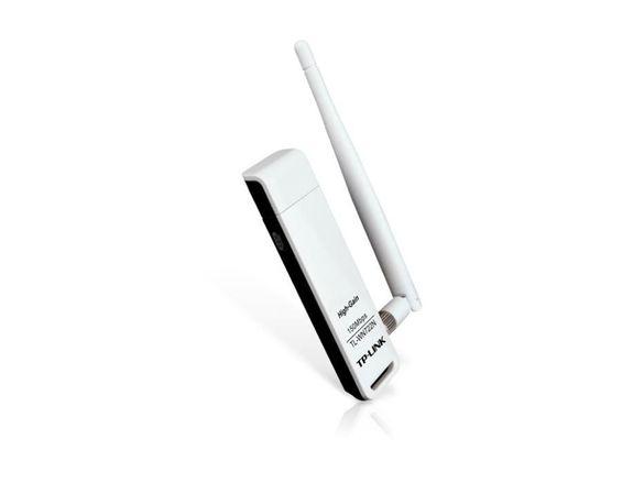 Ланкарта Безжична TP-LINK TL-WN722N 150 Mbps USB с външна антена Wirel