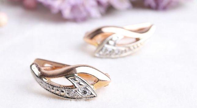Серьги с бриллиантами, золото 585 Россия, вес 3.21 г. «Ломбард Белый»
