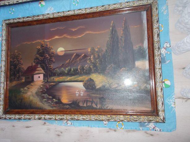 tablou vechi peisaj de toamna elegant