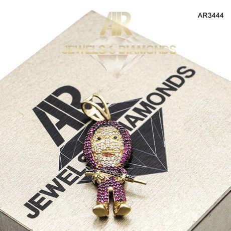 Pandantiv Aur 14 K Casa del Papel model ARJEWELS(AR3444)