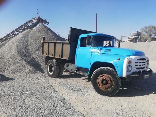 Зил камаз доставка алмыты, песок, щебень, камень, отсев, глина, сникер