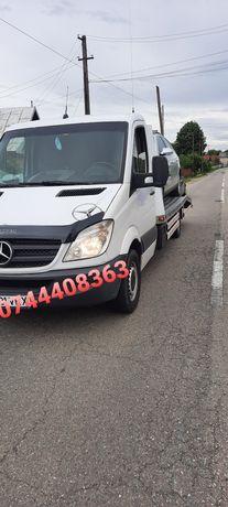 Tractari Auto Platforma non stop service auto 24/24 Transport agregate
