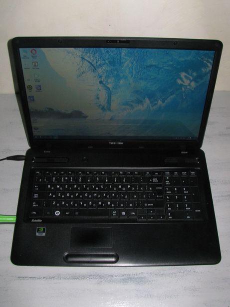 Ноутбук Toshiba core i3 c670 в хорошем состоянии и большим экраном