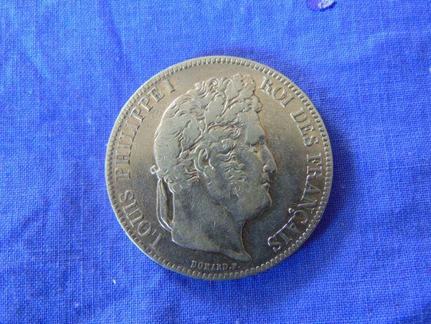 Moneda argint 5 Franc 1839 Louis Philipe (cr8)