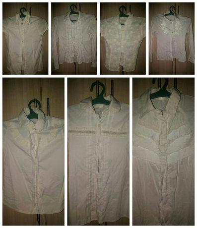 Продам белые блузки для девочки на 3-4 класс