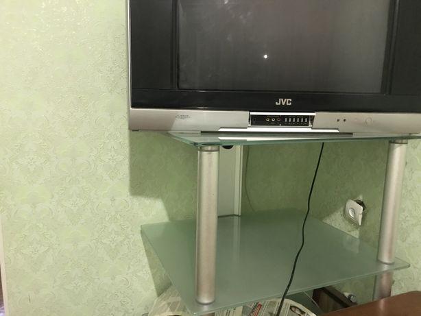 Подставка под телевизор высокая стеклянная 125 см+ маленькая есть