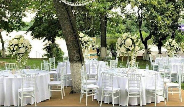 Inchiriez scaune, mese si vesela pentru evenimente! VASLUI, IASI !!!