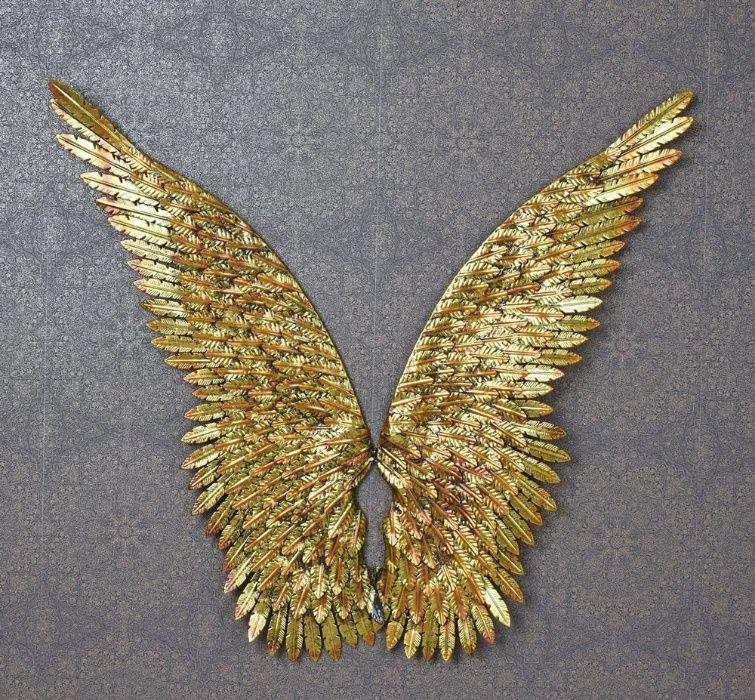 Set aripi mari din metal auriu AJA172 Bucuresti - imagine 1