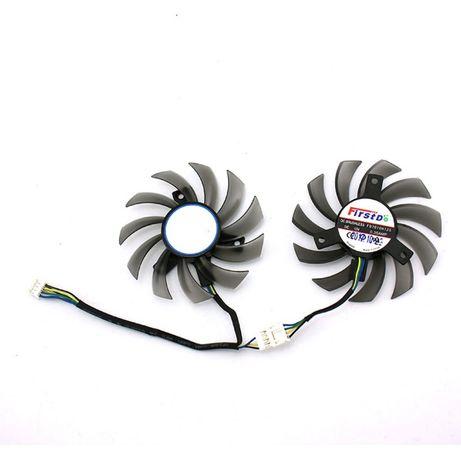 Вентилятор для видеокарты AMD Radeon/ Nvidia/ черный 75 mm 3Pin + 4Pin