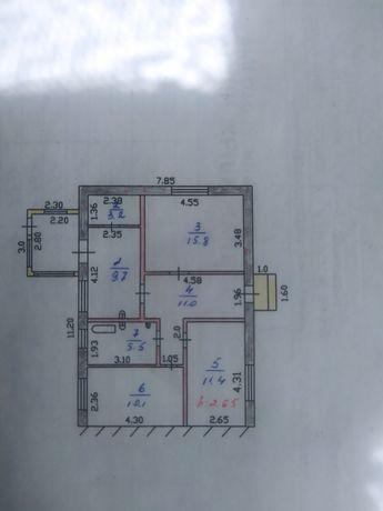 Продам трёхкомнатную квартиру в двух квартирном котедж Карабулак  мель