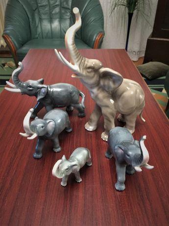 Bibelouri set 5 elefanti din ceramica