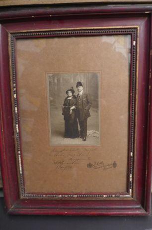 Fotografie Jullieta Inramata 1914 Furnizorul Curtii Regale Romania