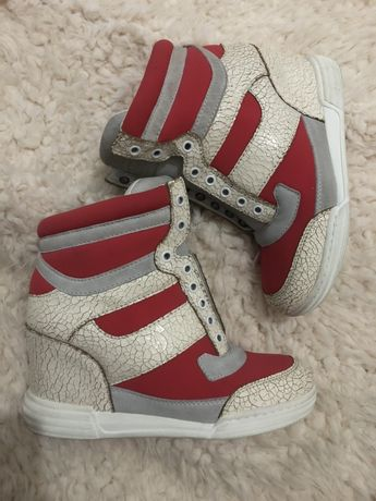 Marc By Marc Jacobs wedge sneakers adidasi piele interior / exterior