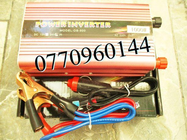 Invertor auto 24V 500W clesti baterie cablu pentru bricheta auto 24V