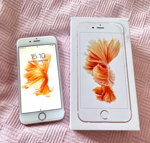 iPhone 6s rose gold 16 GB с кутия и аксесоари + оригинални слушалки