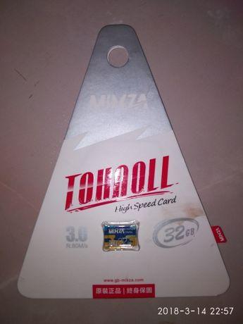 Микро-сд карта 32 гб 10 класс, USB 3.0, оригинал и флешка 256 гб
