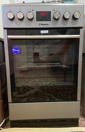 Продам новую газовую плиту Hansa с электрической духовкой