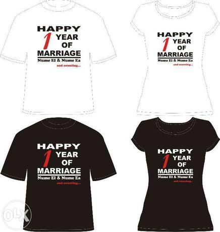 "Tricou personalizat ""Happy Marriage"" - 7 modele"
