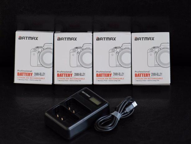 Set 4 baterii + dual charger Panasonic DMW-BLJ31 3050mah