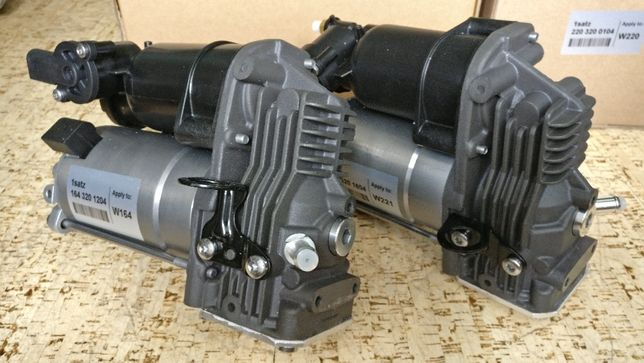 Компрессор пневмоподвески Мерседес W-221, W-164, GL, ML, блок клапанов