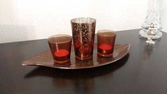 Нов комплект за декорация от цветно стъкло