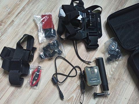 Екшън камера SHIMANO CM-1000 Sports Camera с всичко необходимо към нея