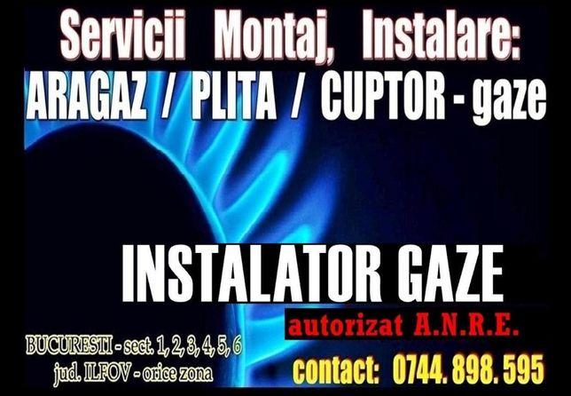 Instalator ARAGAZ, PLITA - autorizat GAZE sect 1 - 6 (Montaj, Montare)