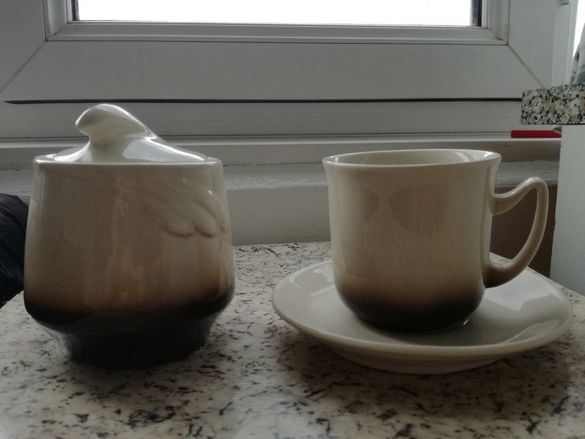 нов керамичен сервиз за кафе