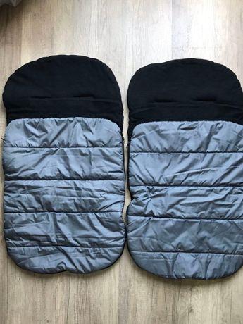 Зимно чувалче за детска количка, два броя, идеално за близнаци