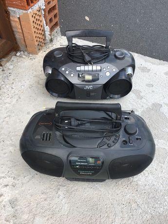 Касетофон СD и радио Philips и Jvc