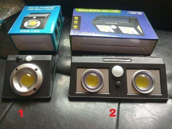 Соларна мощна LED Лампа + Датчик движение + вградена батерия.Ново
