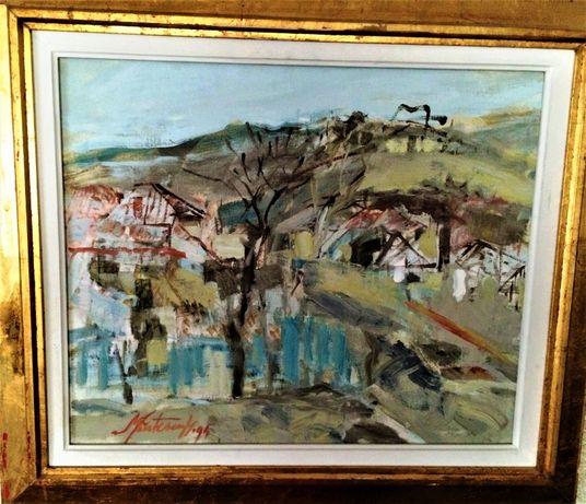 Pictura Tablou Marinela Mantescu Isac ,,Peisaj rural''