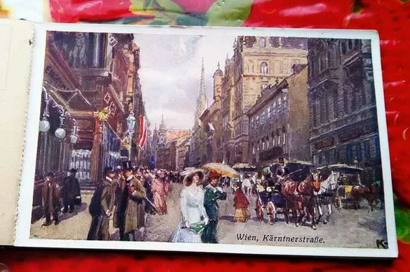 Мн стари 6 бр. неупотребявани картички на Виена 1904 год.