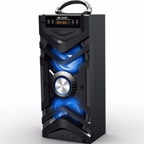 Boxa Portabila cu Bluetooth, Radio FM, AUX, Slot USB si SD MS191BT