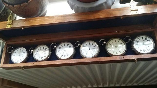 Ceasuri de buzunar din argint colecție 6 piese