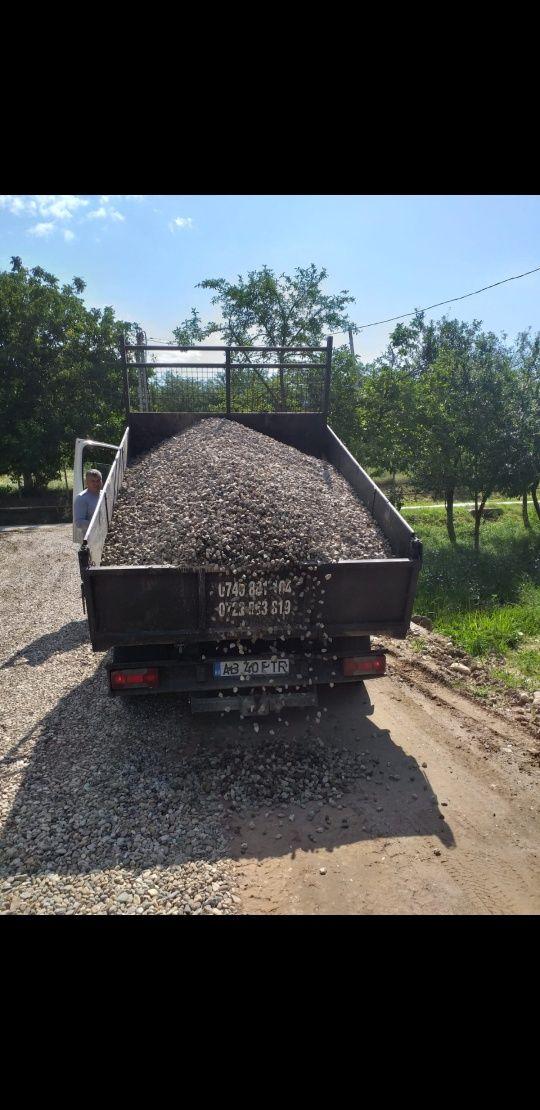 Transport nisip, sort, balastru