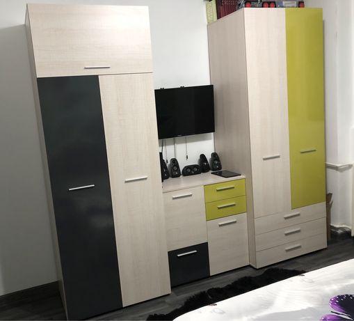 Set mobila dormitor 2 sifoniere 2 noptiere pat comoda